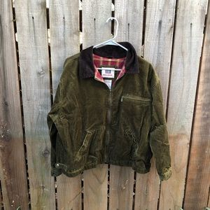 Vintage Women's Green Corduroy Jacket